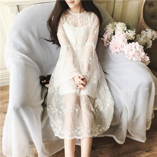 甜美公主雪纺连衣裙